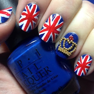 Queen's Birthday/Diamond Jubilee nail art: Nails Art, Nails Trail, Queen Birthdaydiamond, Birthday Pictures, British Nails, Birthdaydiamond Jubil, Queen Crowns, Jubil Nails, Union Jack Nails