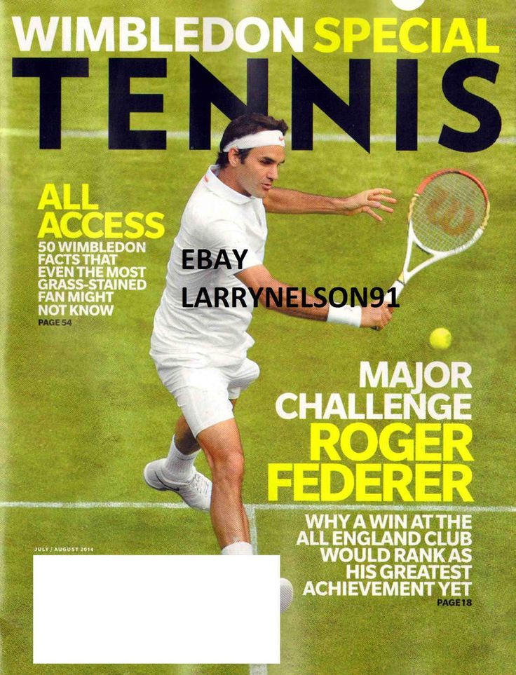 TENNIS MAGAZINE JULY AUGUST 2014 WIMBLEDON SPECIAL ROGER FEDERER NADAL AGASSI TA