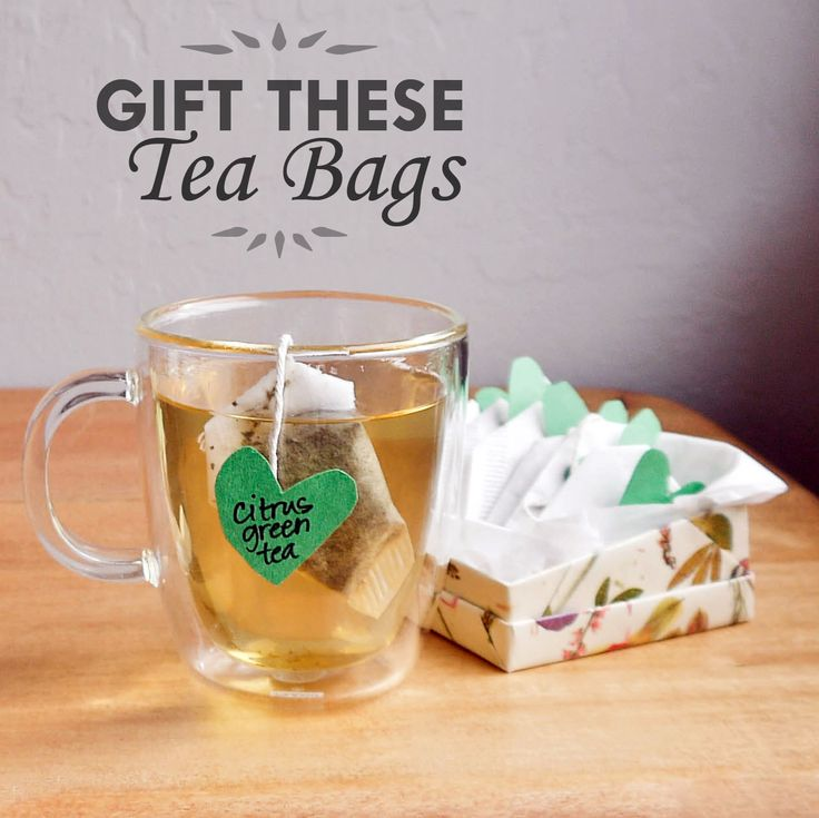 DIY tea bags make an excellent personalized gift! You can even create make your own special tea blend for the bags.