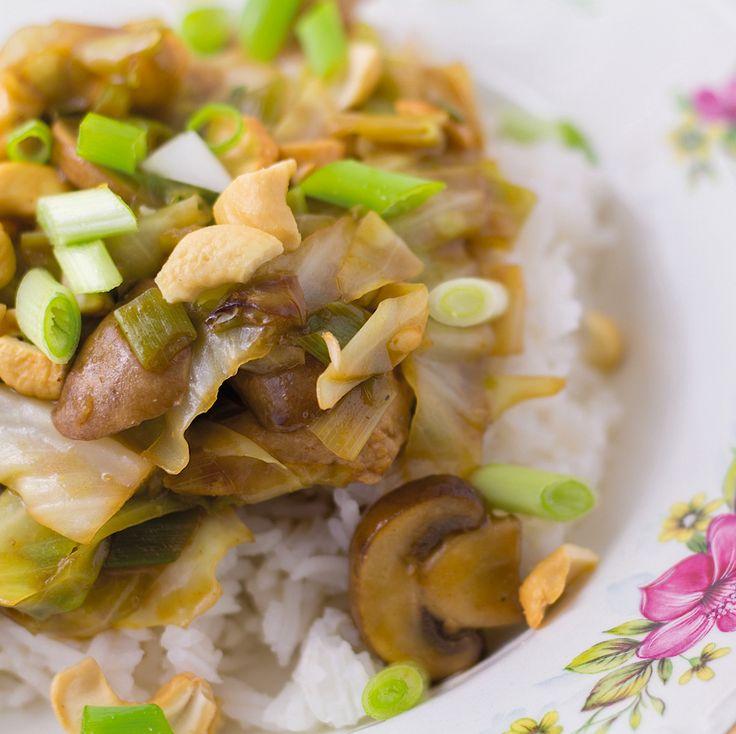Recept voor zelfgemaakte kip siam die niet uit een pakje komt.