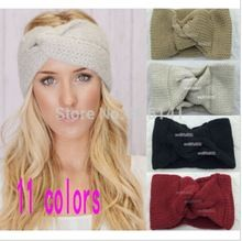 FREE SHIPPING,Knitted Turban headband for women Ear Warmer twist wide hair band(China (Mainland) #threebirdnest
