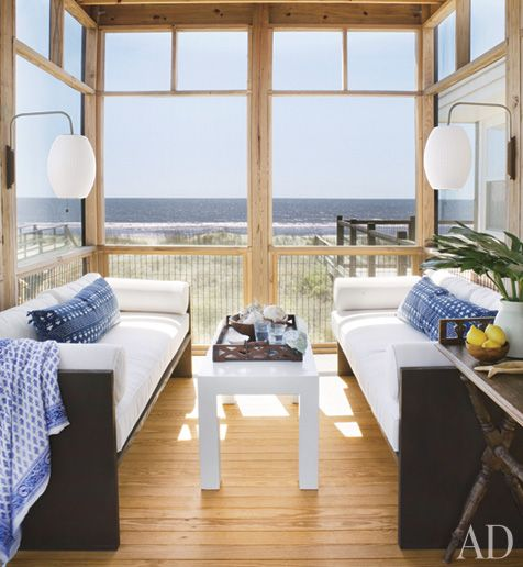 Spotted From The Crows Nest A Beach Bungalow On South Carolinas Popular Folly Designer Amelia Handegan Renovates Oceanfront Retreat Without