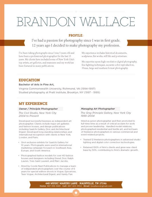 73 Best Images About Resume Design On Pinterest | Cool Resumes