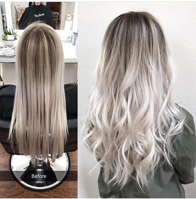 Ash Blonde with shadow roots (fall blonde shadow root)