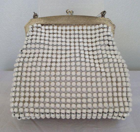 Vintage Park Lane white handbag / evening by Justwhatawomanneeds