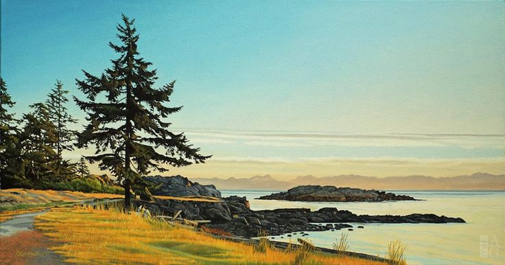 Ron Parker - Lone Fir - oil on canvas - 16 x 30