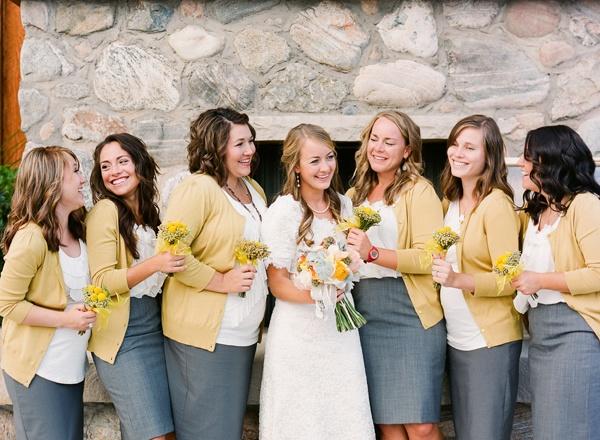 pencil skirts & cardis .. so perfect!: Pencil Skirt Bridesmaid, Cute Ideas, Wedding Ideas Entourage, Aa Bridesmaids, Pencil Skirts, Backyard Weddings, Skirts Cardigans, Wedding Cardigans, Bridesmaid Idea