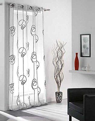 M s de 25 ideas fant sticas sobre cortinas en blanco y - Cortinas en blanco y negro ...