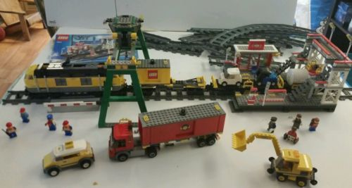 Lot-3-Lego-City-Sets-7939-7937-7936-Power-Functions-Tracks-Retired-COMPLETE