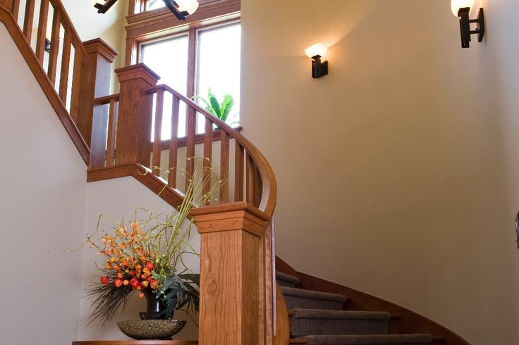 Best Frank Lloyd Wright Inspired Staircase Round Carpet 400 x 300