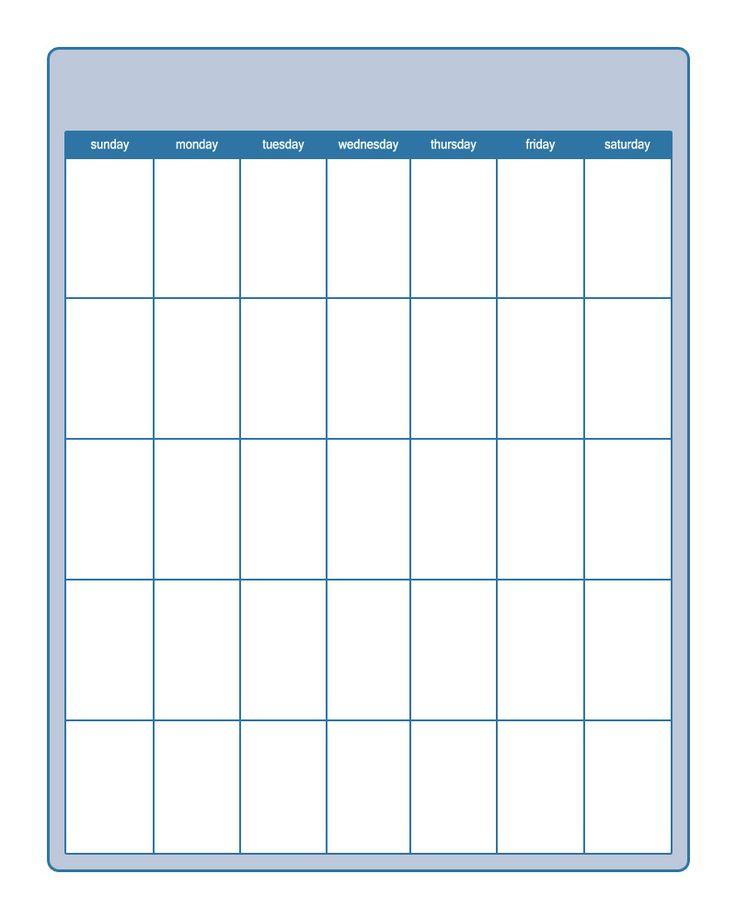25+ unique Blank calendar template 2015 ideas on Pinterest - preschool calendar template