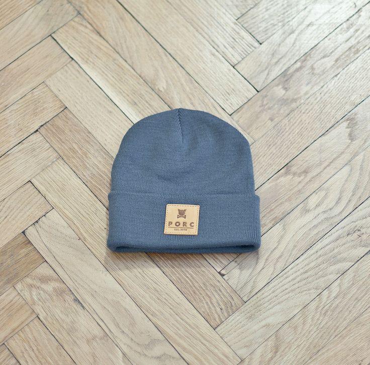 """Logo"" Leather Hat Grey"