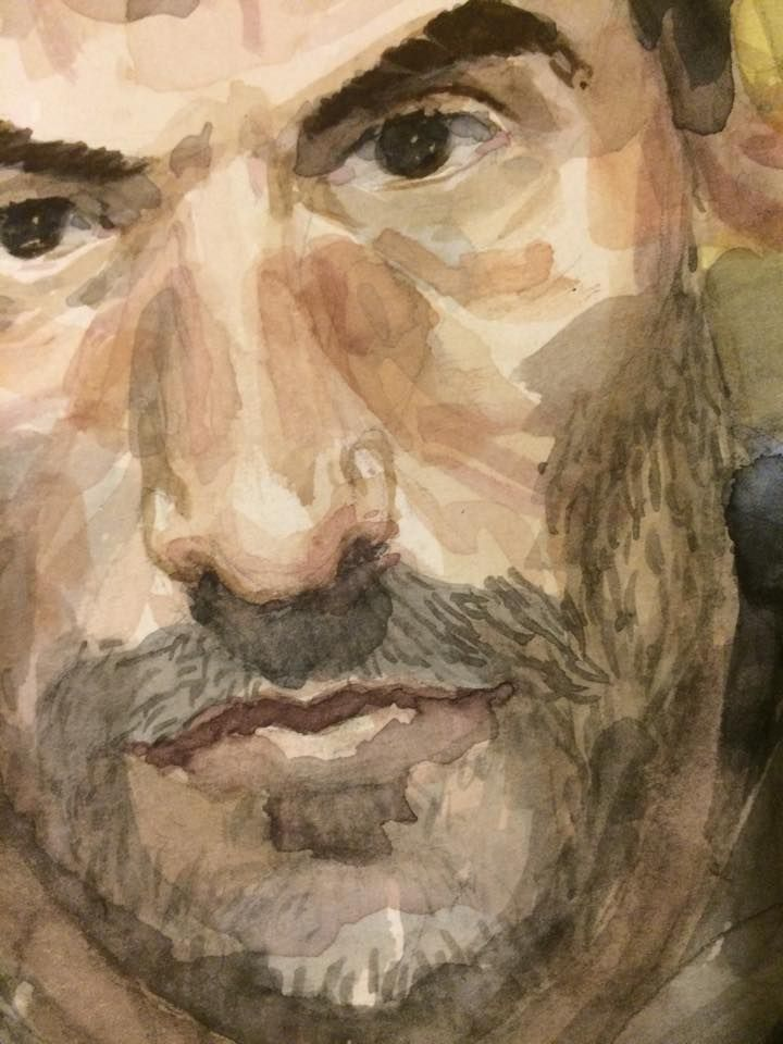 Self Portrait (Watercolor on Paper)