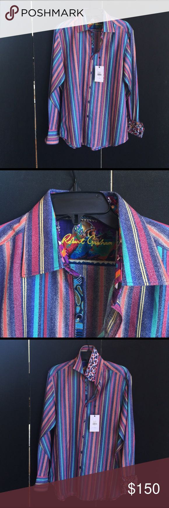 Robert Graham / Style: Mistletoe shirt Robert Graham Classic fit shirt.  Start or add this Robert Graham Mistletoe multi shirt to your collection.  100% Cotton Robert Graham Shirts Casual Button Down Shirts