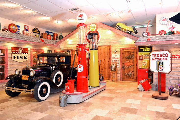 Man Cave Expo Collinsville : Our man cave s texaco station in show room