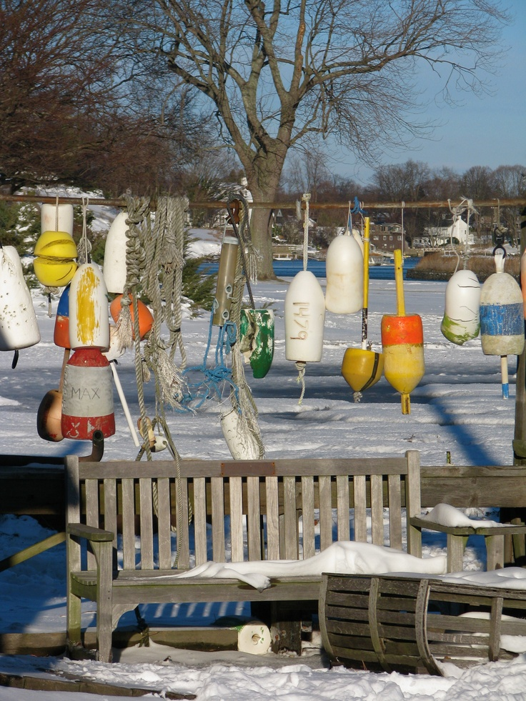 Local boat yard in winter