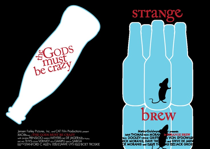 Illustration of Classic Films in South Africa and Canada - The Gods must be crazy and Strange Brew
