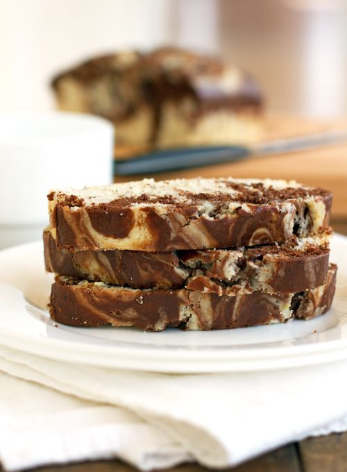 Chocolate & Sweet Cream Marble Loaf by pinchofyum: Mmmm! #Chocolate_Loaf #pinchofyum