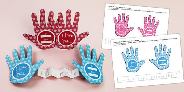 Valentine Handprint Craft