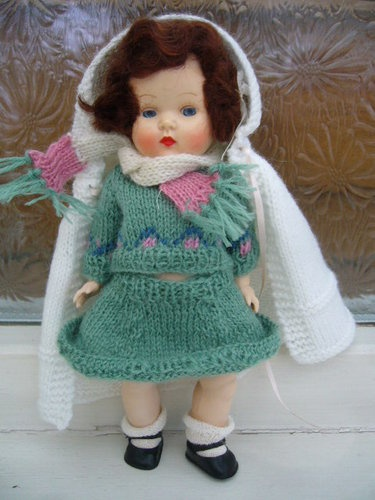 Vintage 1950s Hard Plastic Miss Rosebud Doll & Outfit With Cape, Socks And Shoes | eBay