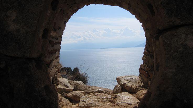 Aegean Sea through a hole