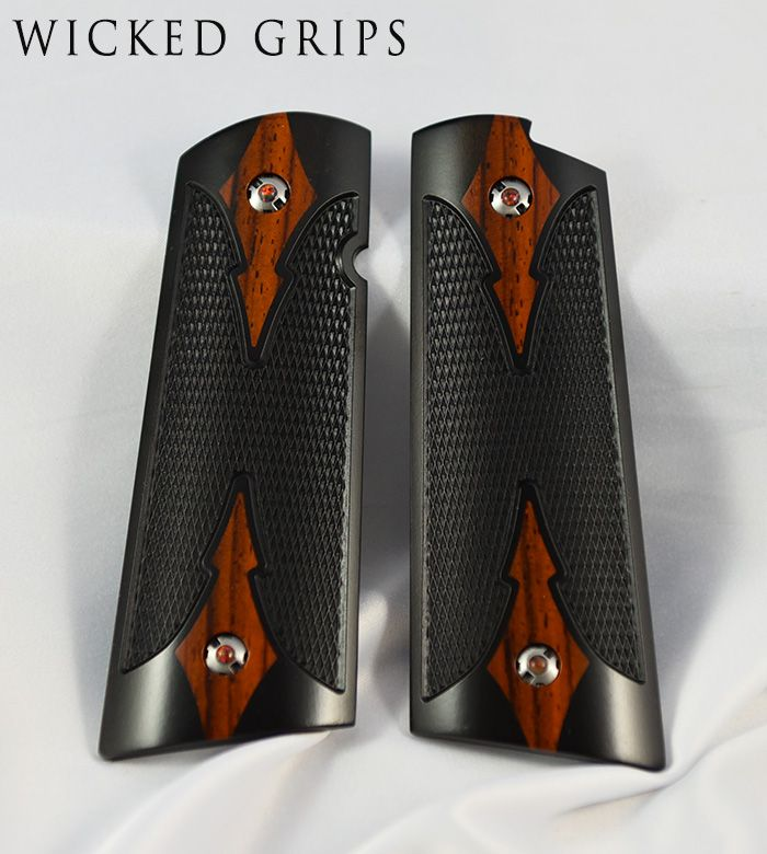 1911 PISTOL GRIPS WOOD SET 367 EBONY COCO MAGWELL Save those thumbs & bucks w/ free shipping on this magloader I purchased mine http://www.amazon.com/shops/raeind  No more leaving the last round out because it is too hard to get in. And you will load them faster and easier, to maximize your shooting enjoyment.