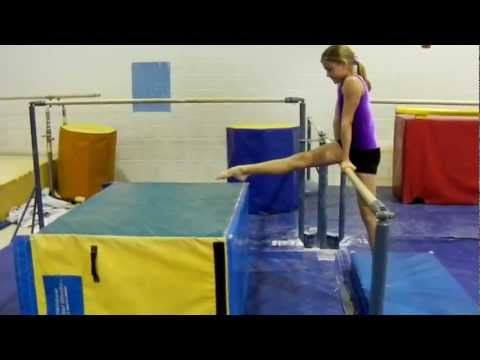 Gymnastics: Introductory Uneven Bar Drills- Preteam, Level 2, Level 3, Level 4