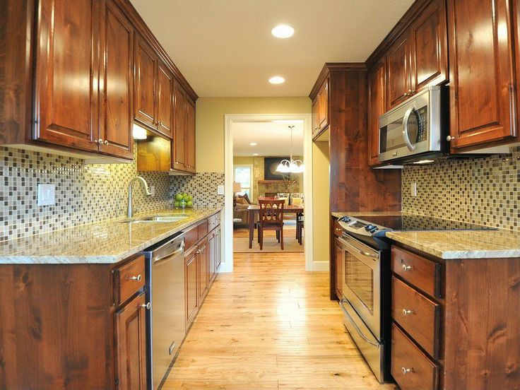Great traditional kitchen zillow digs my style for Great galley kitchen designs