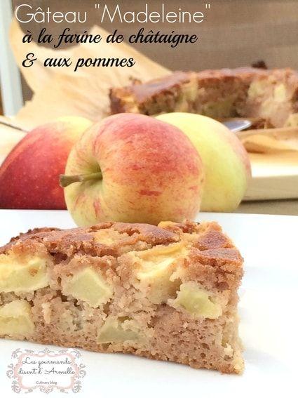 Gâteau à la farine de châtaigne et aux pommes