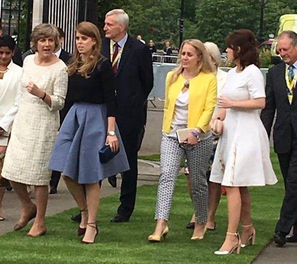 prinses Beatrice en prinses Eugenie 23-5-2016