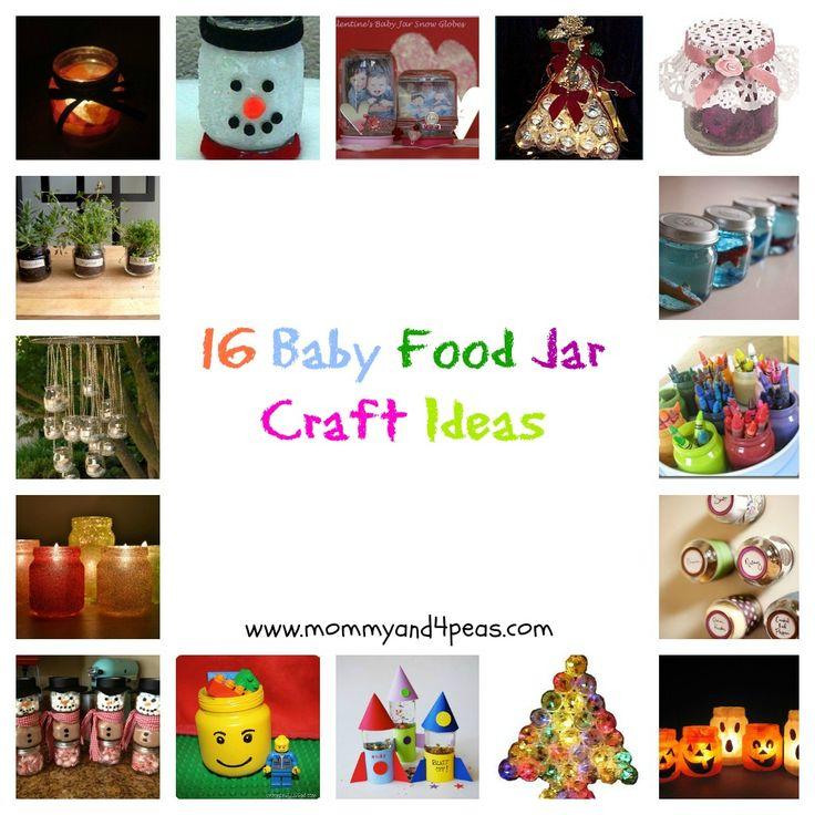 baby food jar craft ideas:  - candle holder  - candy jar  - air fresheners  - storage jars