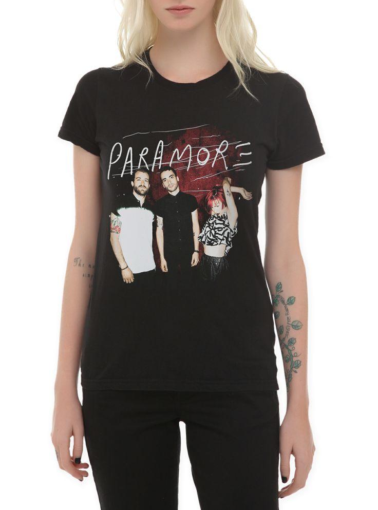 (logo)Paramore Red Wall Girls T-Shirt | Hot Topic ... Paramore Merch