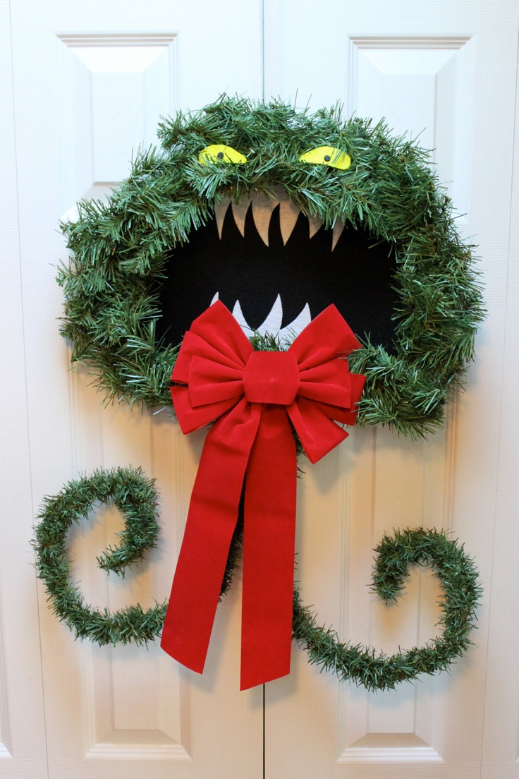 Another monster wreath to DIY