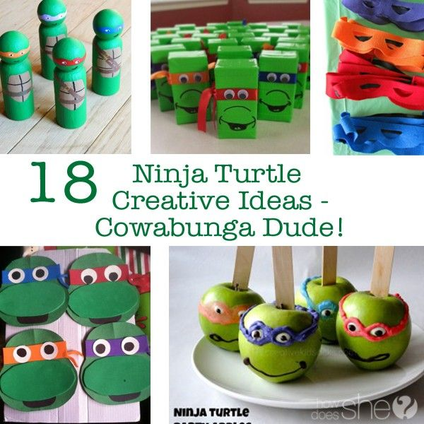 18 Ninja Turtle Creative Ideas – Cowabunga Dude! howdoesshe.com