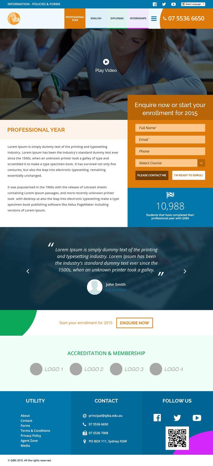 Website design for Queensland International Business Academy