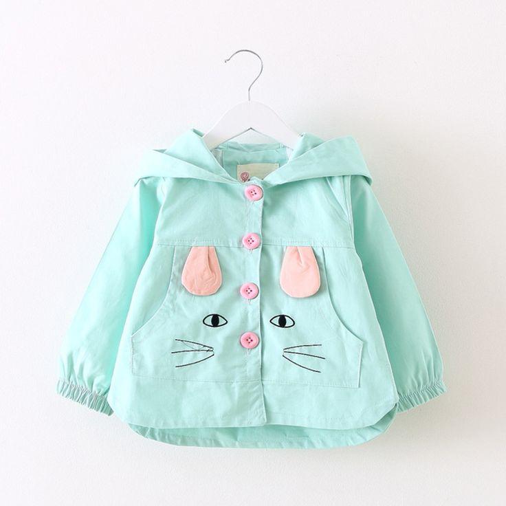 Sotida Baby Coats 2017 Fashion Kids Jackets clothing Baby girls Clothes cartoon Rabbit Printing Coats Children Outerwear&Coats