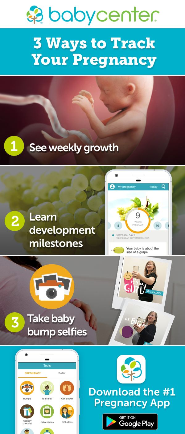 Download and start tracking your pregnancy today.