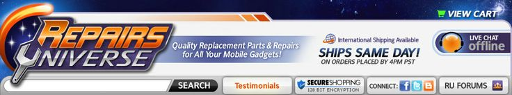 iPhone, iPod, HTC, Nexus, Android and Tablet Replacement Parts and Repair Guides and Videos