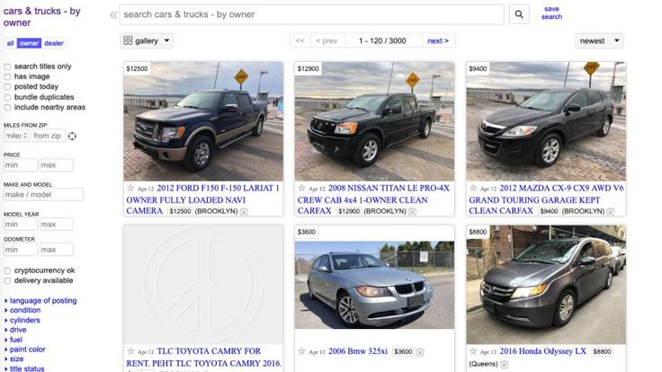 Listing a car for sale on Craigslist won't be free anymore