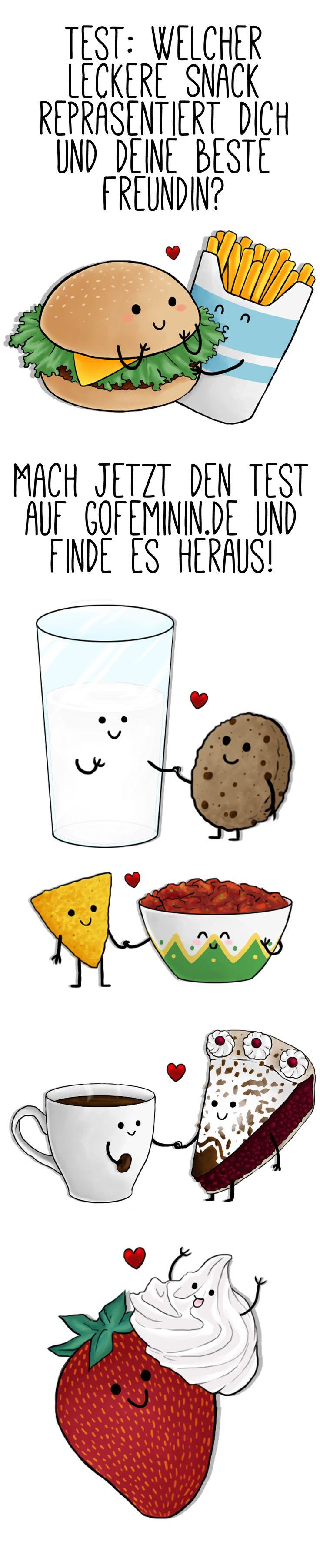 Mach unseren Persönlichkeitstest und wir verraten dir, welcher leckere Snack deine beste Freundin und dich am besten symbolisiert. Klick einfach HIER: http://www.gofeminin.de/beliebt-im-netz/welcher-snack-sind-du-und-deine-bff-s1491909.html