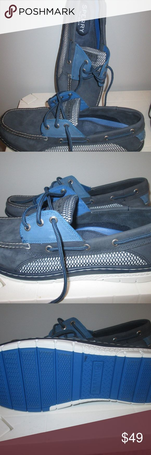 Men's Sperry Top-Sider Blue Shoes Size 13M I carefully search Thrift stores and Garage sales for nice clothing items. These are very nice clean high end items.  All items are checked for odor, holes and stains.  Smoke and pet free home Sperry Shoes Loafers & Slip-Ons