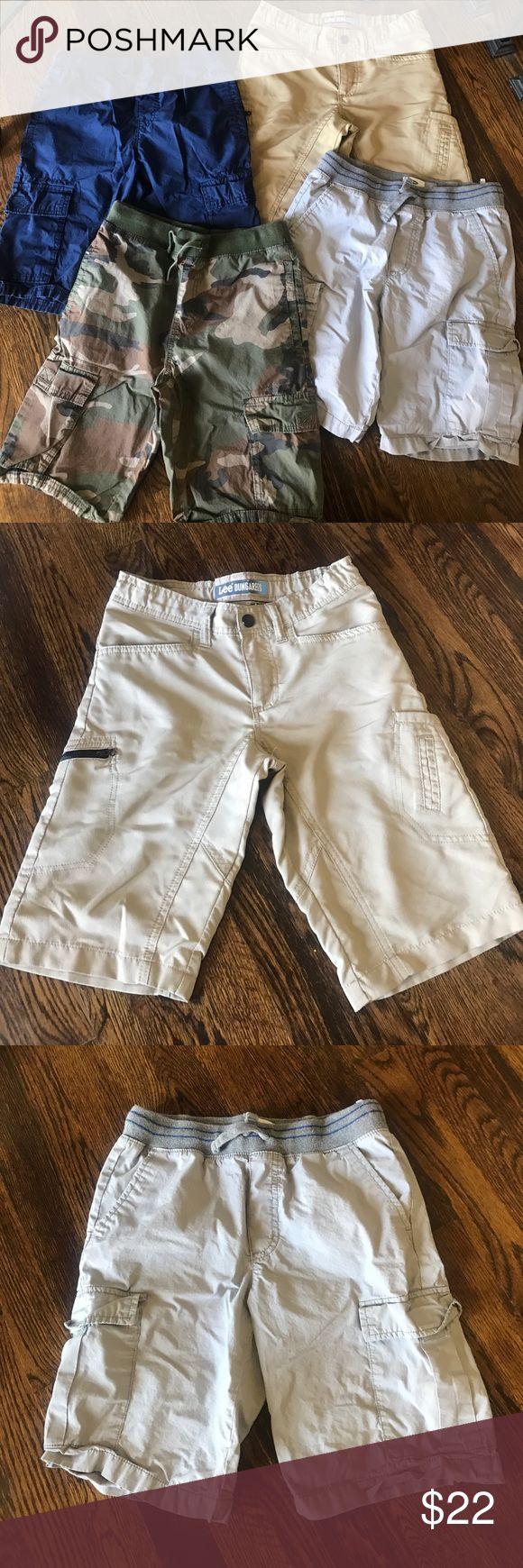 Lot of Boys Size 10-12 Shorts Navy Old Navy Cargo drawstring Shorts, size 10-12. Camouflage Old Navy drawstring shorts, size 10-12. Khaki Lee Dungaree snap close shorts, size 10 regular. Grey Old Navy drawstring shorts, size 10-12. Bottoms Shorts