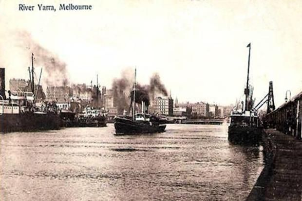 Vintage Postcard - Melbourne. To see all our old postcards of Australia, visit http://oldstratforduponavon.com/australia.html