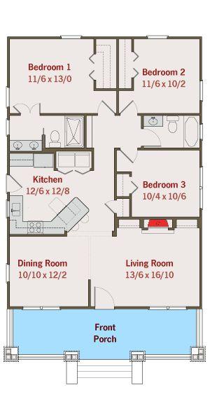 Plan 50105ph Adorable Bungalow House Plan