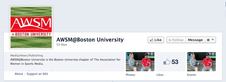 AWSM@Boston University is a student chapter of the national organization of the Association for Women in Sports Media. Open to all students, the group allows those interested in the sports media field to create their own network within Boston University. Like the national organization, AWSM@Boston University works to promote diversity in sports media and encourage positive workplace environments. For more info visit https://www.facebook.com/AWSMatBostonUniversity