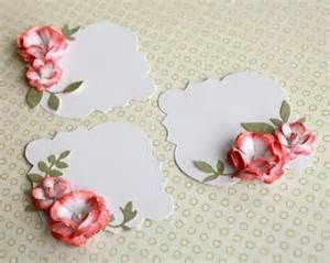 Rose Flower placecards