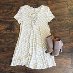 Stripe Me Up T-Shirt Dress