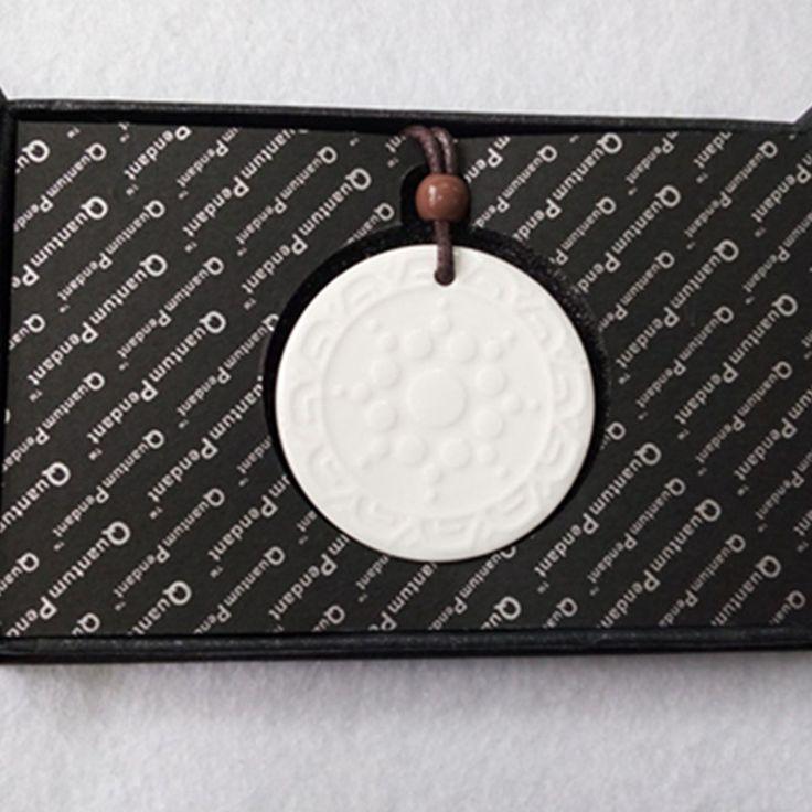 2pcs/lot White Quantum Scalar Pendant with FIR and Germanium Stone Healthcare Pendants Fashion Jewelry