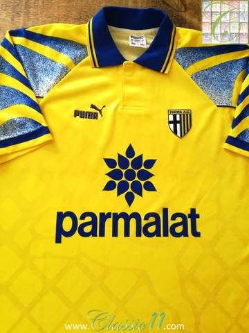 77a1964b2 Official Puma Parma 3rd kit football shirt from the 1995 96 season.