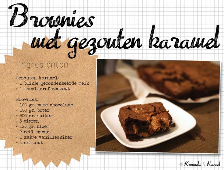 brownies gezouten karamel